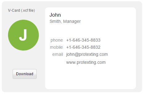 Virtual business card electronic business card vcard by protexting by setting up your business card or your teams business cards in your protexting account you will be able to easily manage make changes quickly colourmoves
