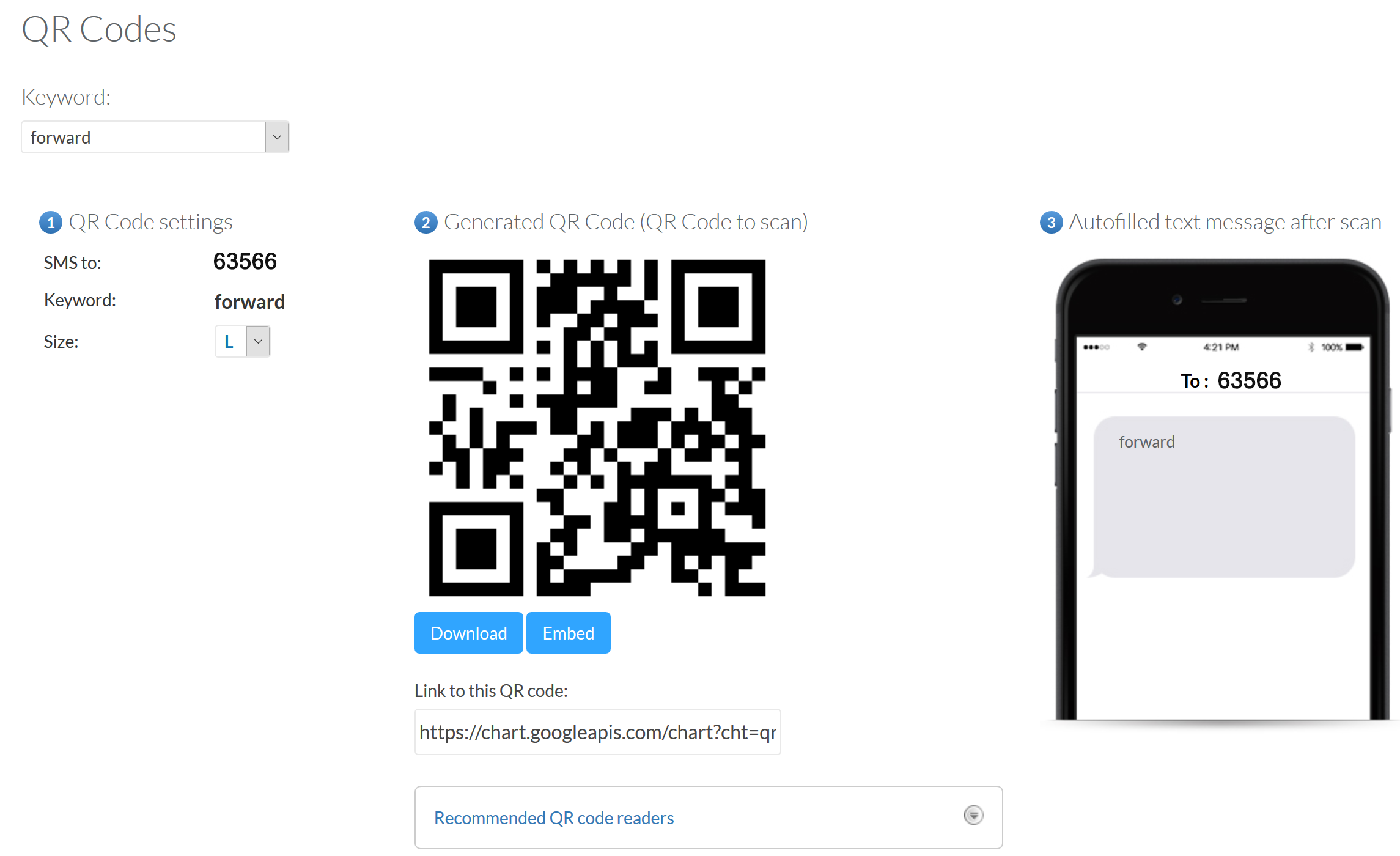 qr code for sms marketing